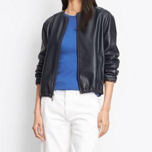 Vince Leather Golf Jacket
